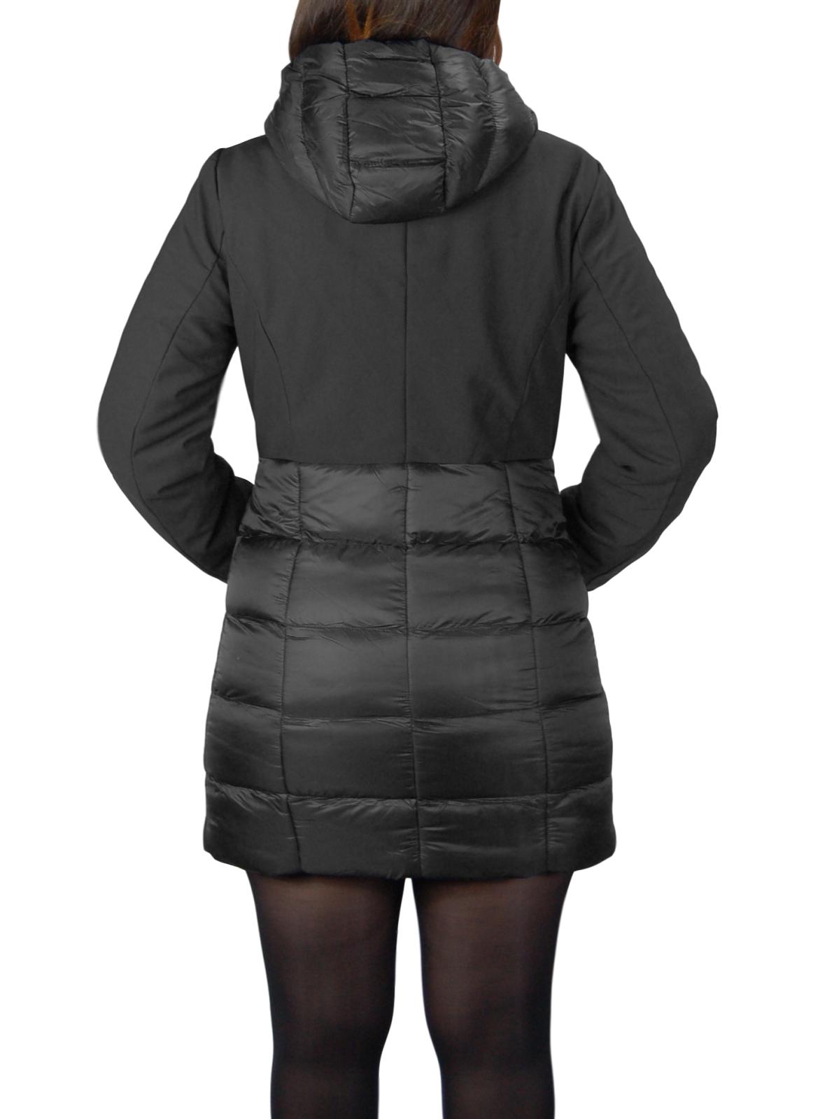Giubbotto-Donna-Invernale-Piumino-Impermeabile-Parka-Blu-Nero-Slim-fit-Casual miniatura 12