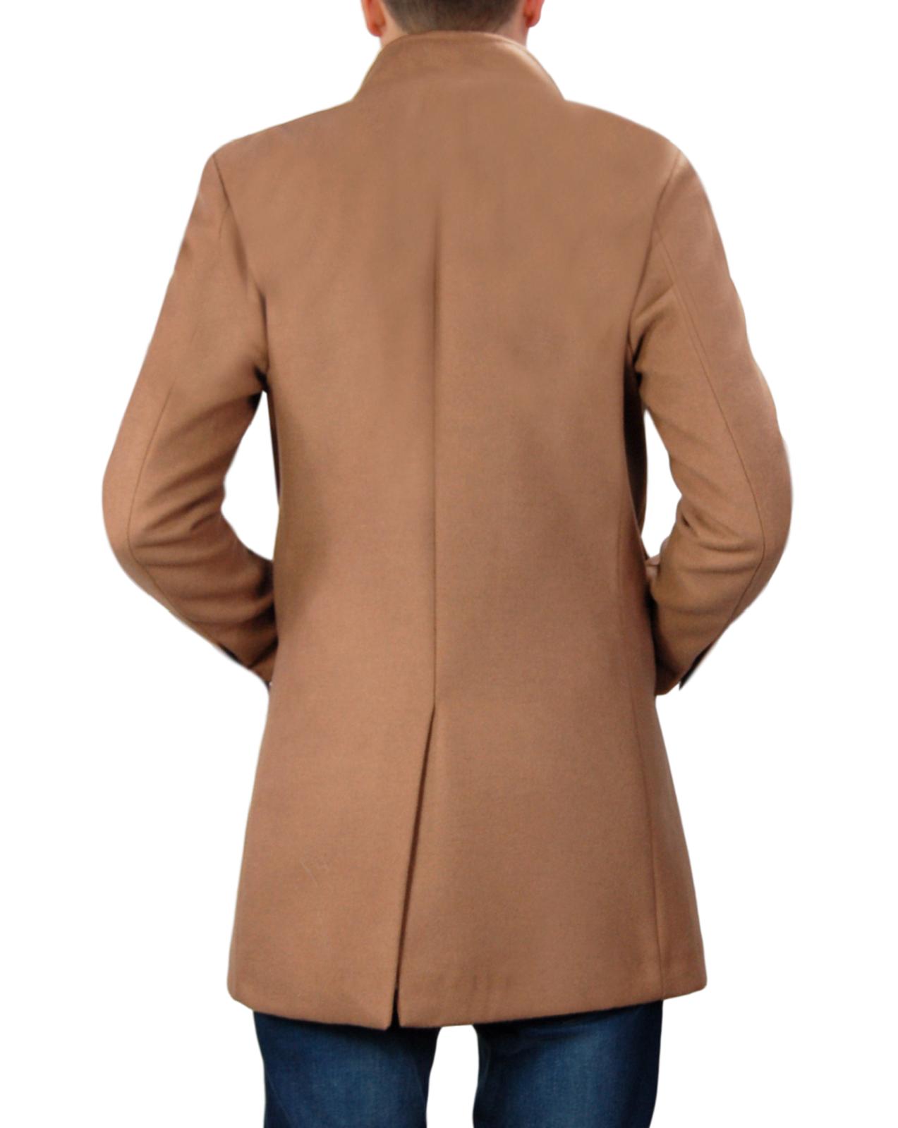Cappotto-Uomo-Elegante-Giubbotto-Invernale-Blu-Camel-Trench-Lungo miniature 23