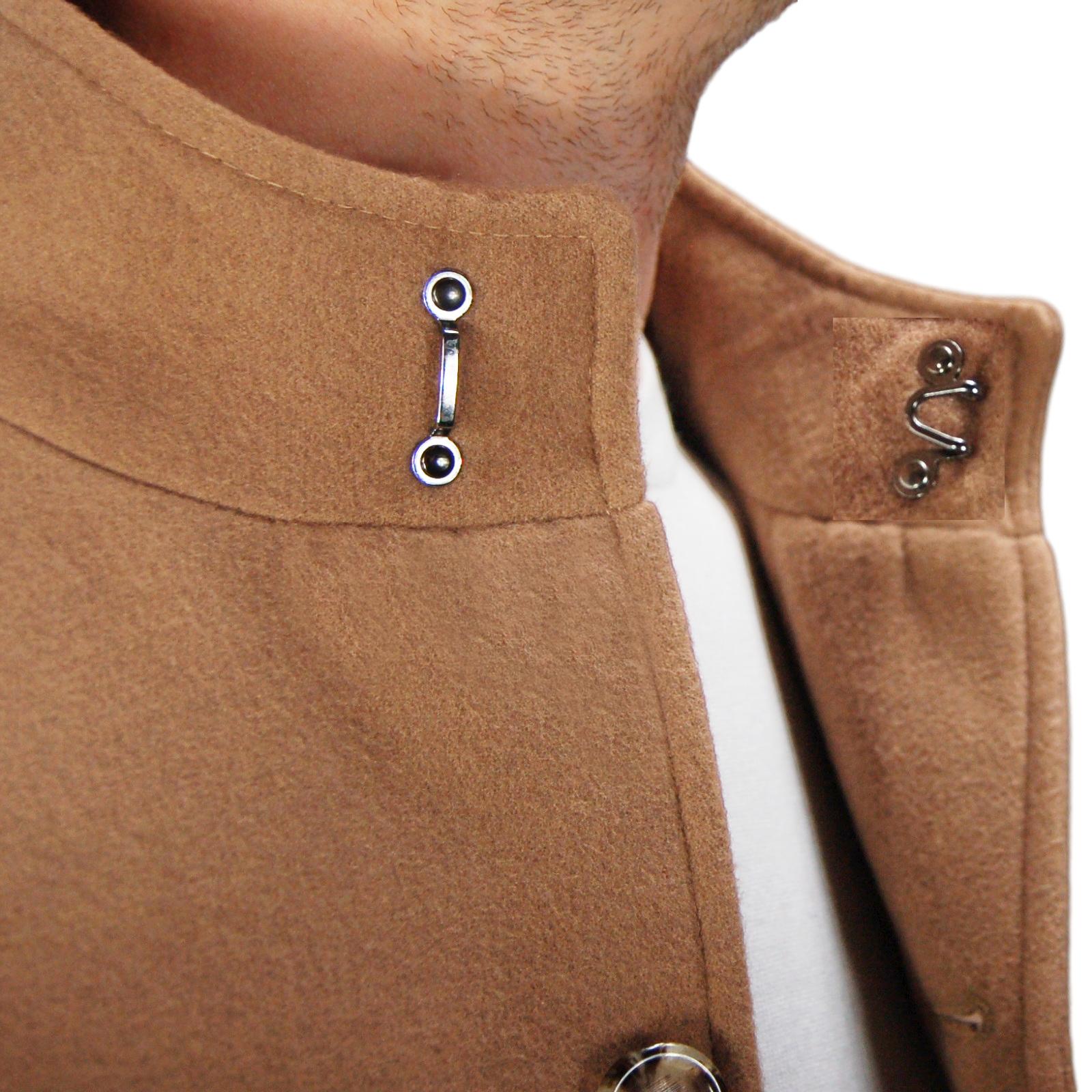 Cappotto-Uomo-Elegante-Giubbotto-Invernale-Blu-Camel-Trench-Lungo miniature 20