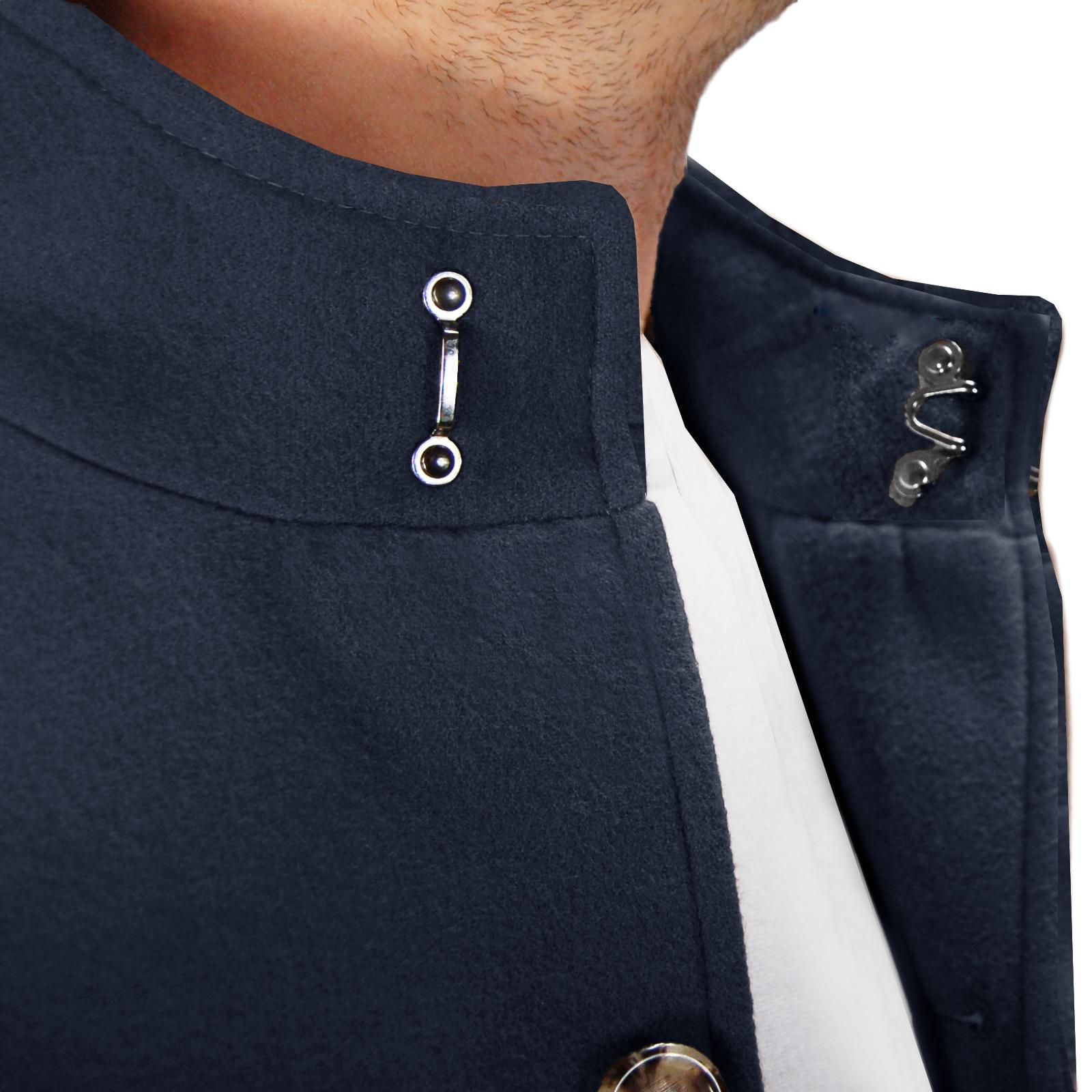 Cappotto-Uomo-Elegante-Giubbotto-Invernale-Blu-Camel-Trench-Lungo miniature 14