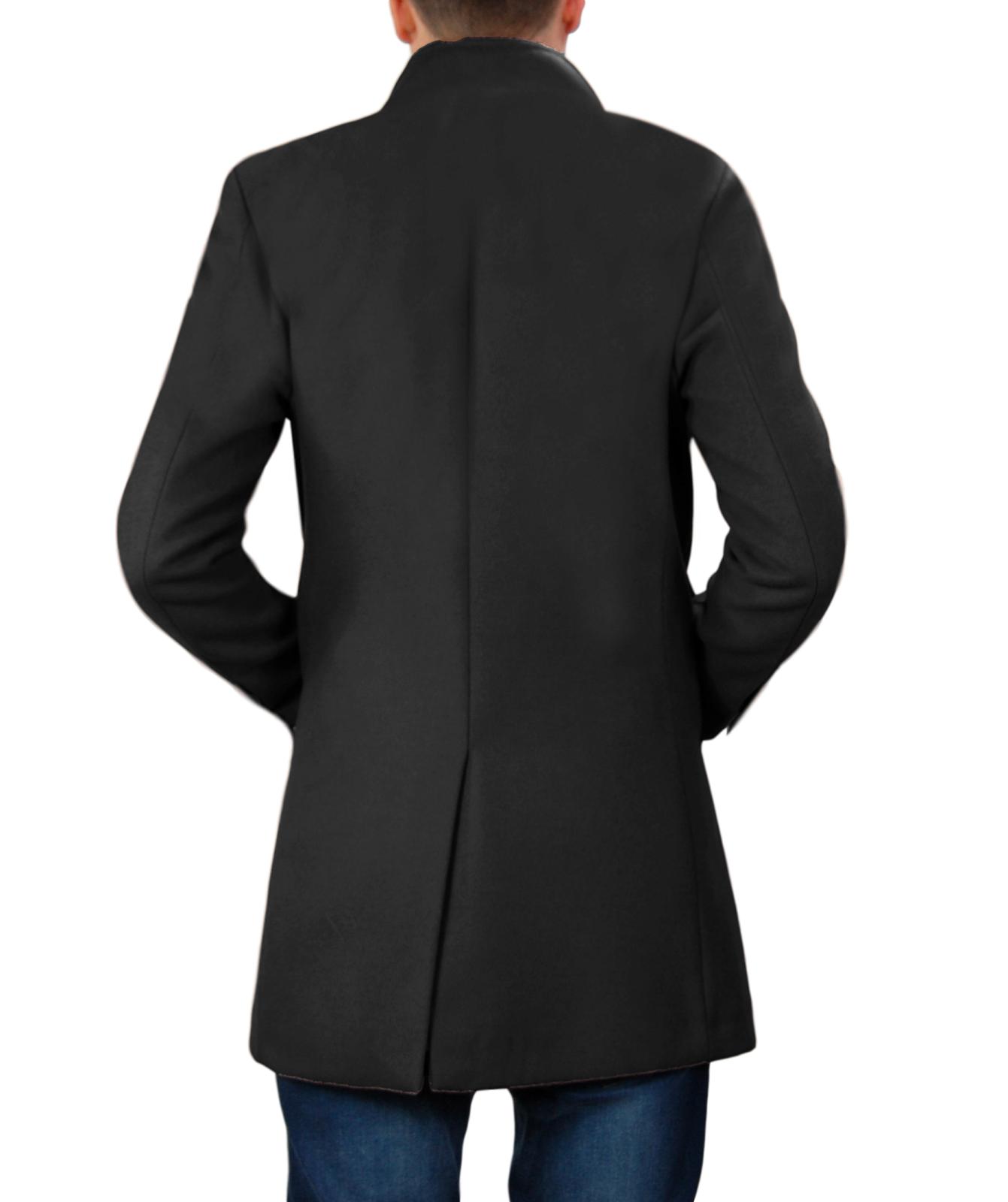 Cappotto-Uomo-Elegante-Giubbotto-Invernale-Blu-Camel-Trench-Lungo miniature 29