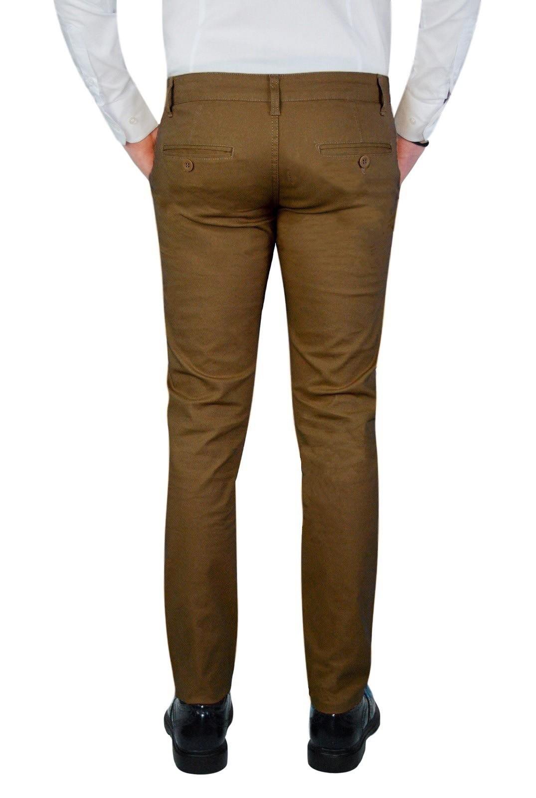 Pantalone-Uomo-Chino-Primaverile-slim-fit-Pantaloni-Eleganti-Blu-Verde-Nero miniatura 29