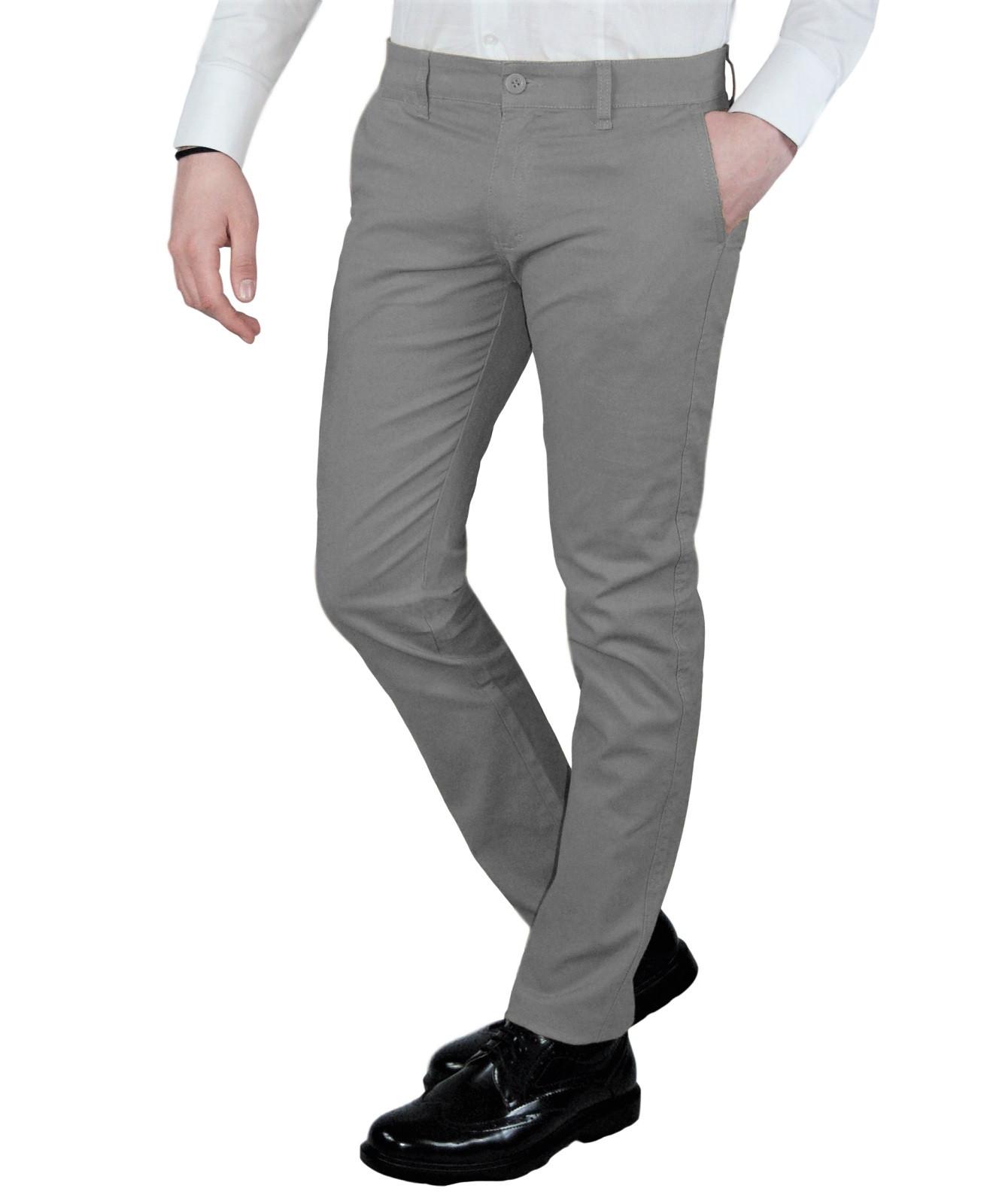 Pantalone-Uomo-Chino-Slim-fit-Primaverile-tasca-america-Bianco-Grigio-Senape-Bei miniatura 18