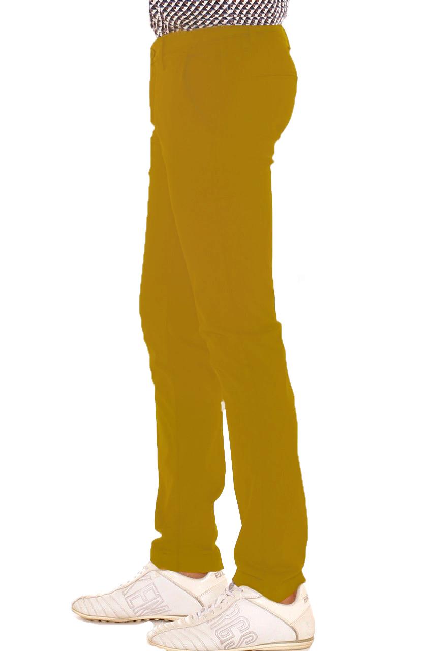 Pantalone-Uomo-Slim-fit-Chino-Elegante-Invernale-America-Cotone-Tasca-america miniatura 30