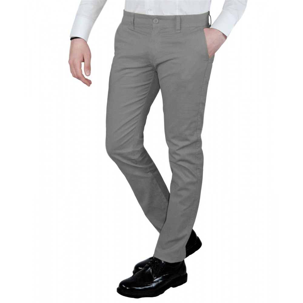 Pantalone-Uomo-Slim-Fit-Chino-Invernale-tasca-america-Cotone-Blu-Nero-Verde miniatura 31