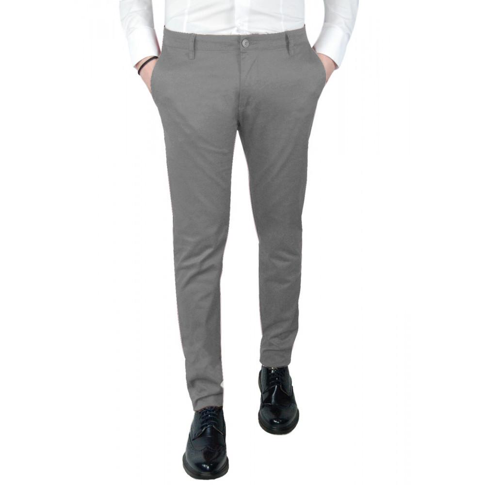 Pantalone-Uomo-Slim-Fit-Chino-Invernale-tasca-america-Cotone-Blu-Nero-Verde miniatura 32