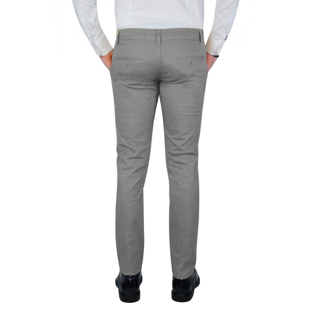 Pantalone-Uomo-Slim-Fit-Chino-Invernale-tasca-america-Cotone-Blu-Nero-Verde miniatura 33