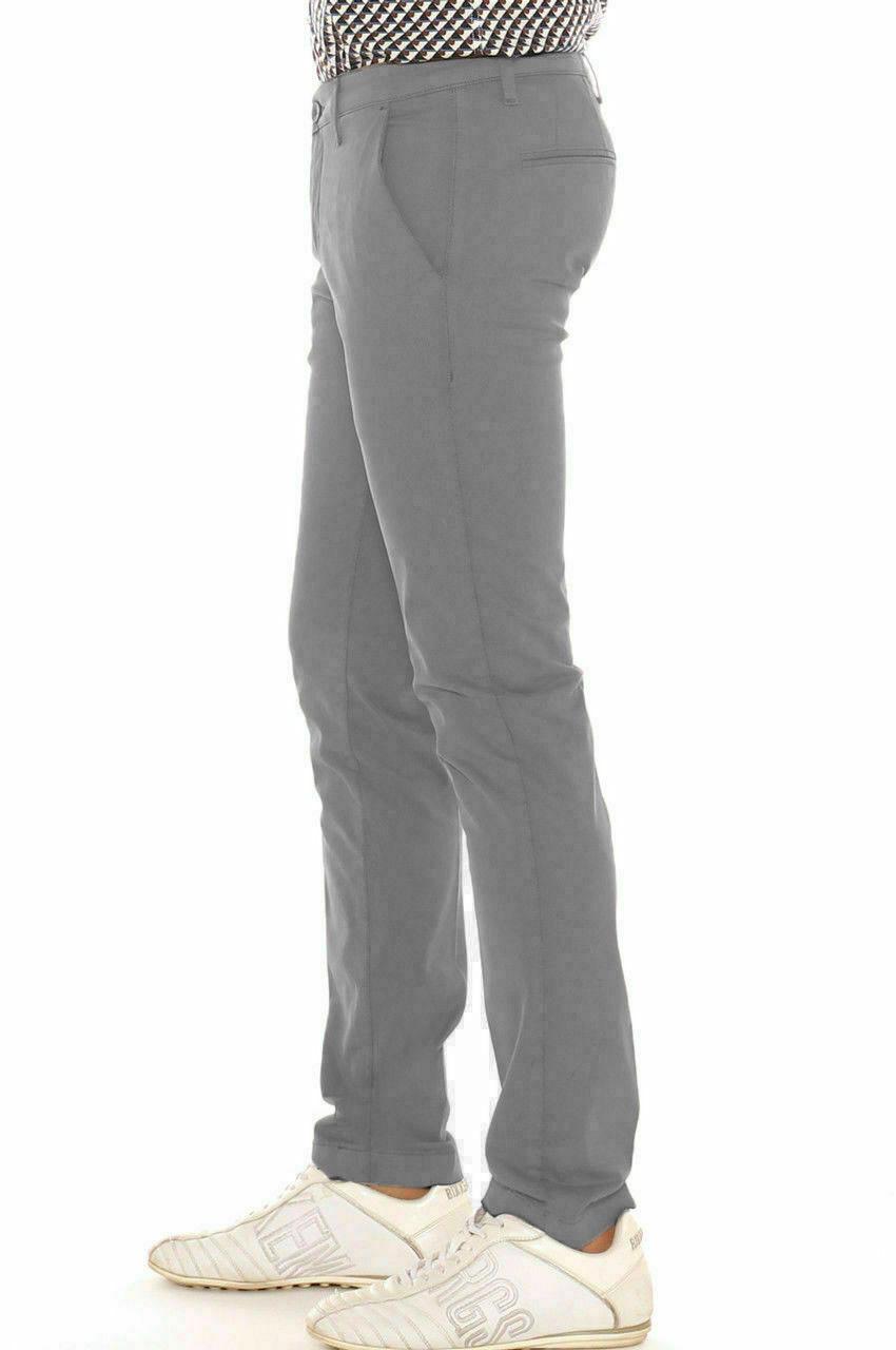 Pantalone-Uomo-Slim-fit-Chino-Elegante-Invernale-America-Cotone-Tasca-america miniatura 34