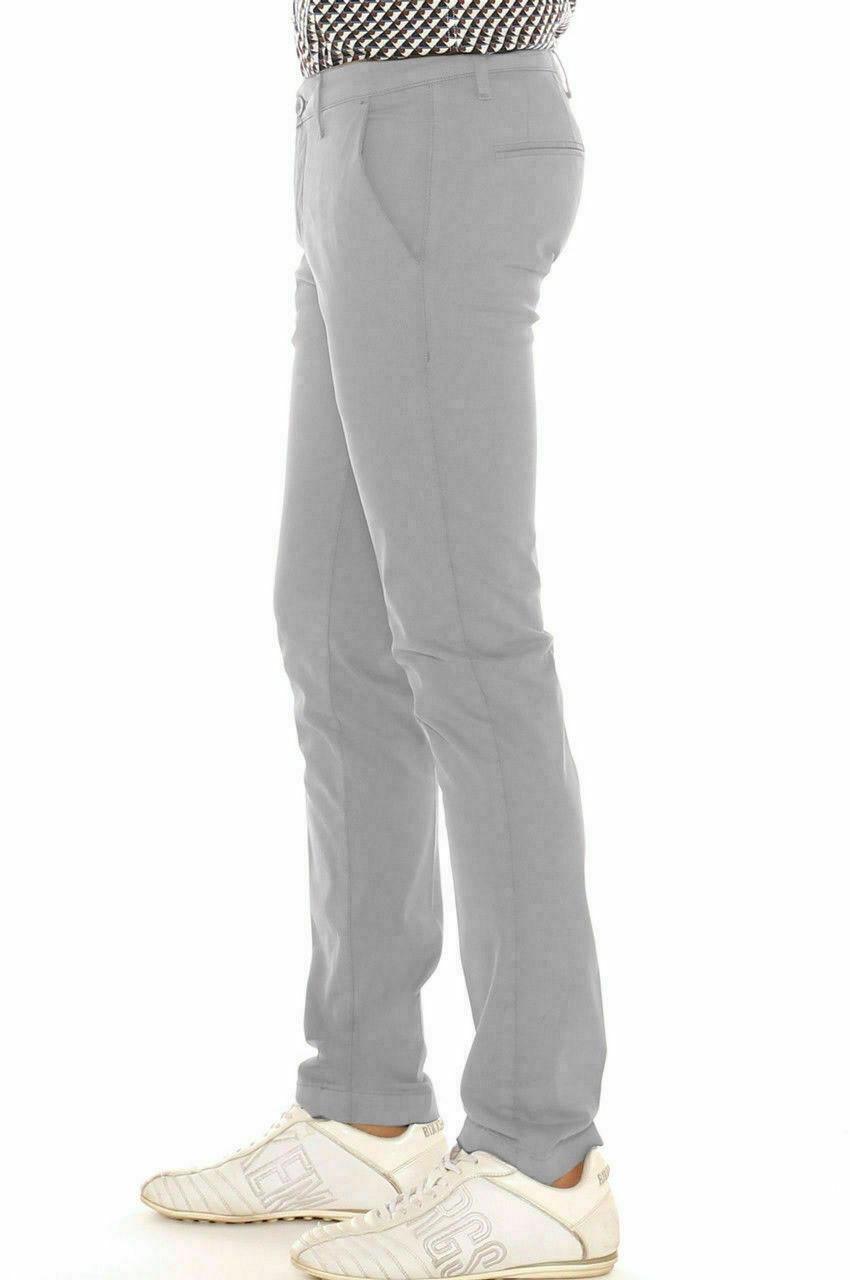 Pantalone-Uomo-Slim-fit-Chino-Elegante-Invernale-America-Cotone-Tasca-america miniatura 22