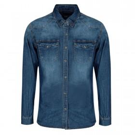 Camicia Jeans Uomo Slim Fit...