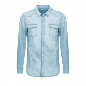 Camicia Uomo Jeans Slim Fit...