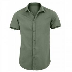 Camicia Uomo Lino Slim Fit...