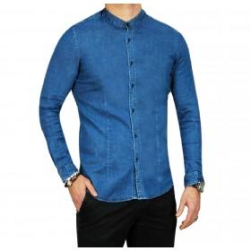 Camicia Jeans Uomo Coreana...