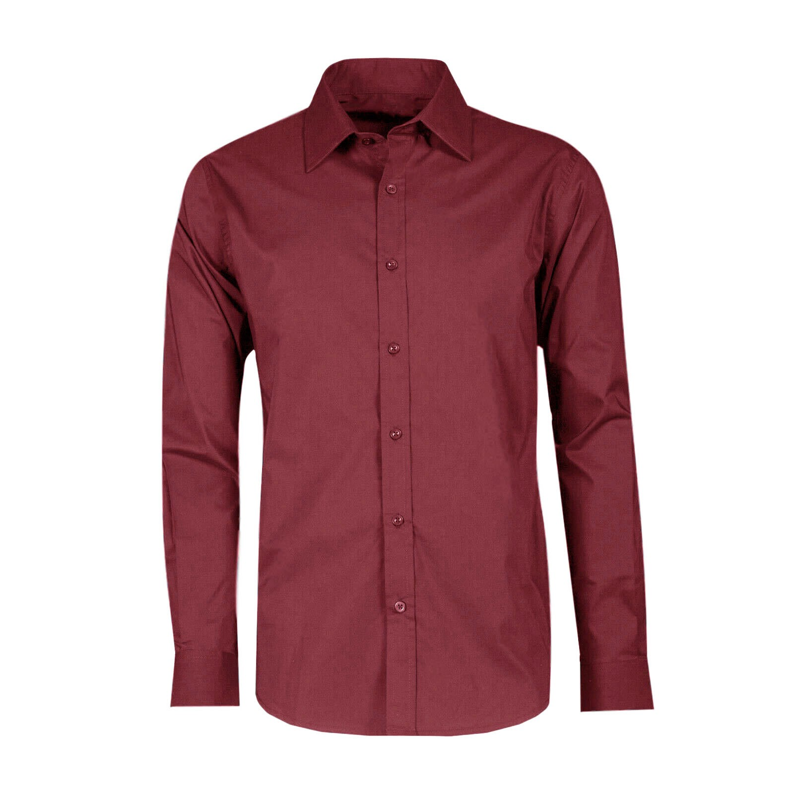 Camicia-Uomo-Celeste-Bianca-Slim-Fit-Manica-Lunga-Sartoriale-Cotone-TG-S-7XL miniatura 30